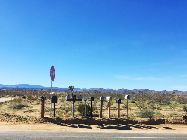 Joshua Tree mailboxes
