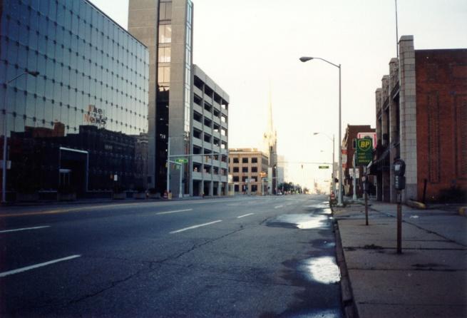 Empty streets.